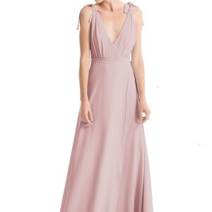 Anna Long -Tea Rose- Bridesmaid Wrap Dress Wedding